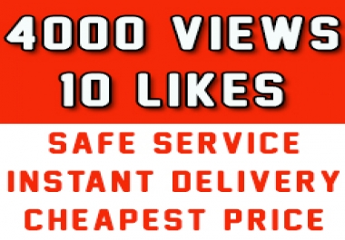 Fast 2000 Youtube Vews + 10 Likes to improve Youtube rank