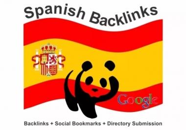 I will create 150 backlinks on spanish ES blog domains @@##