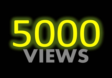 Give you 5000+ FAST YOUTUBE Views & 20 Likes