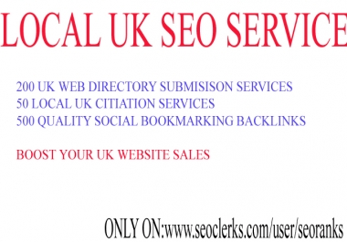 I will provide Local UK seo services