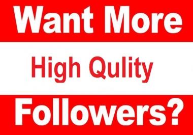 1000 High Qulity Follower ( 20 day Refill Guaranty)