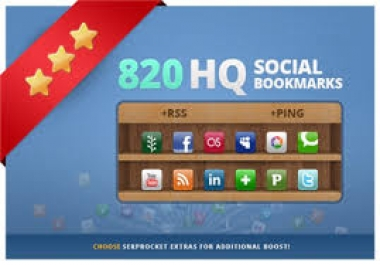 add your site to 820 social bookmarks high quality backlinks + rss + ping !!