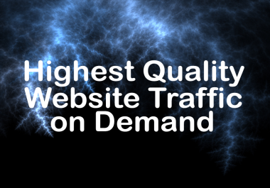Supply 10,000+ Real Human safe traffic to your website