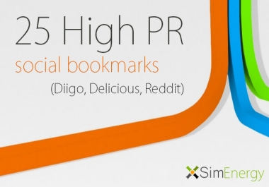 I will make manualy 25 Top High PR 9 to 4 social bookmarks, with login details