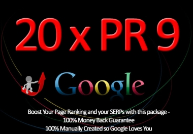 manually create 20 PR 9 Backlinks that Google will Love x