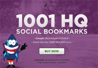 I will add your site to 1001 social bookmarks high quality backlinks, rss ,ping