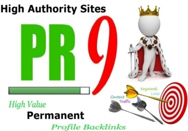 manually Create 15 PR9 Backlinks from Google Safe High AUTHORITY Websites