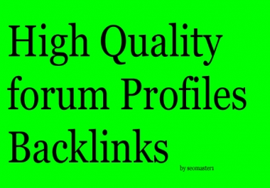 HQ 500 Real Forum Profile Dofollow Backlinks