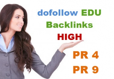 create 15 dofollow backlinks from EDU GOV sites with high DA30 to 90 in root domain