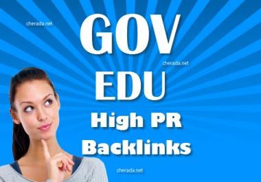 provide 10 dofollow EDU/GOV backlinks from high pr5 to pr9 sites