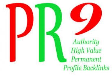manually Create **15 PR9 Backlinks ** from Google Safe High AUTHORITY Websites