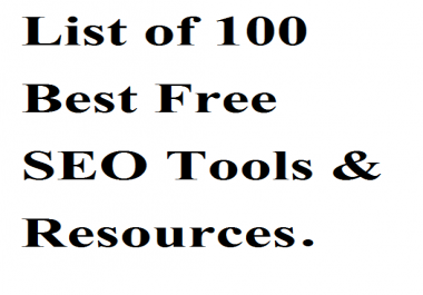 List of 100 Best Free SEO Tools & Resources 2020