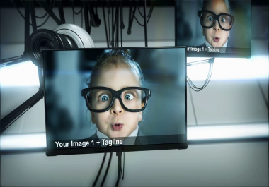 create this high tech advertising video for your company for