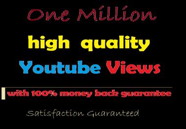Buy 1 Million Non-Drop You tube Views