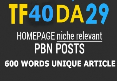 5 High TF 40+ Strong Contextual PBN Post links