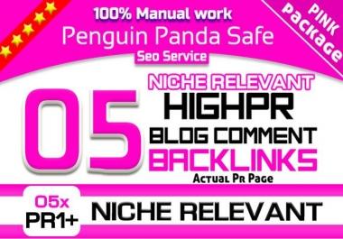 do 05 Pr1 Plus Niche Relevant Blog Comment Penguin Panda Safe Seo Backlinks