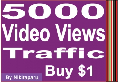 Super fast 5000 Video Views traffic