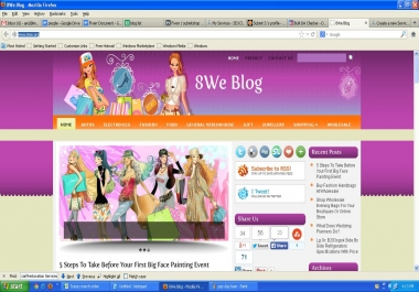 I will do blog post of your website and publish it on my quality PR1 shopping blog