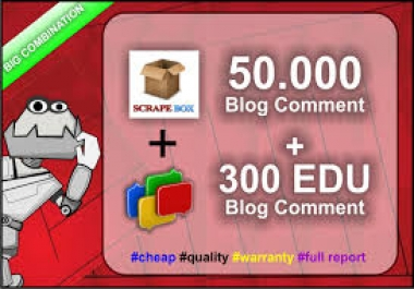 50,000 blog comment and 300 EDU backlinks@@##