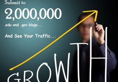 I will provide 2,000,000 edu and gov blogs to increase your PR@@##