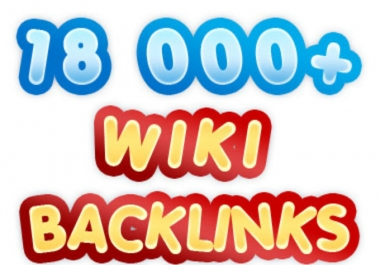 I will create 18000 contextual WIKI backlinks from over 5000 unique domains and ping