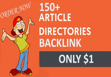 150+  Top Quality Article Directories   Backlinks