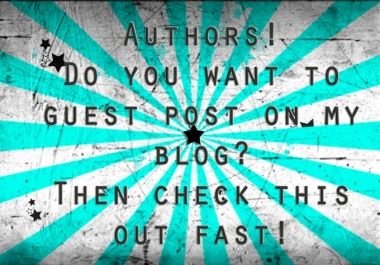 I will give you a GUEST POST on my PR4 Family Blog