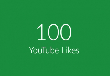 100 Real YouTube Likes Within 24 Hours