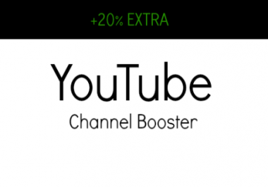 CHANNEL BOOSTER - ADD 300 Subscribers + 3 Channel Comments To Your Channel