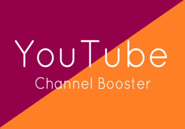 CHANNEL BOOSTER - ADD 40 Subscribers + 4 Channel Comments To Your Channel