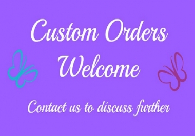Custom Orders OR Social Media Services For Clients