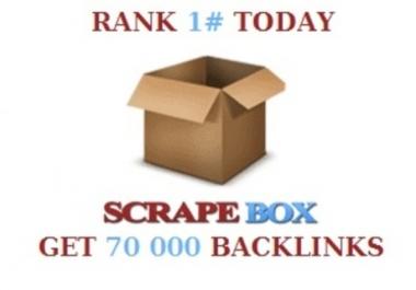 do a scrapebox blast of 70 000 blog comments