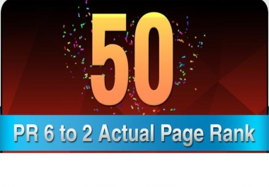 make 50 Manual DoFollow Blog Comment Actual Page Rank 6 To 2