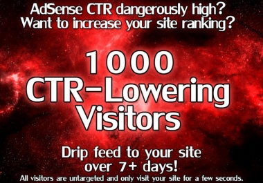 send 1000 CTR Lowering Visitors to your Website