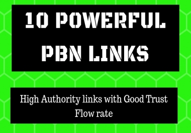 7 Permanant DA 30 - 60 Homepage Dofollow PBN Backlinks