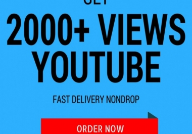 Send 2099+ You-tube vie ws / You CAN splitt in 2 video Vie ws is VERY FAST and SAFE