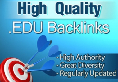 create 50 high PR edu and gov backlinks