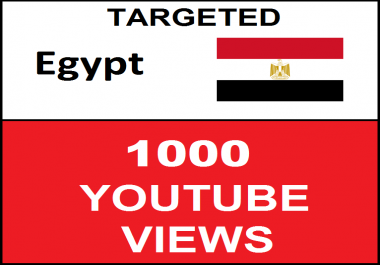 Added 1,000 Egypt Geo Targeted youtube video boosting
