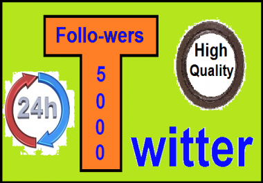 Give you 5000+ T-witter follo-wer in just 12-24 hours