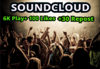 Get Soundcloud 300k High Retention Plays,300 Likes,70 Repost and 10 Comments within 24 Hours