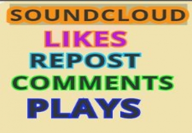 Get high retention Soundcloud 5,000 Plays 30 Likes within 24 hours