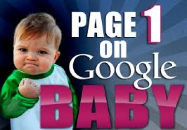 I will get your website to google page 1 with my powerful SEO package