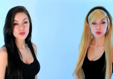 create a promotional video featuring twins