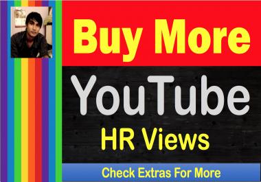 SUPER-FAST 5,000+ [ Lifetime Non-Drop ] High Retention YouTube V-iews
