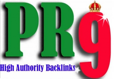 manually Create 10 High QUALITY PR9 Backlinks