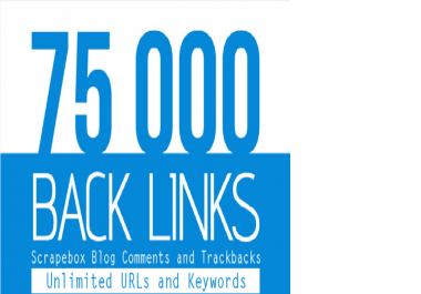 I will create 75,000 blog comment backlinks from SCRAPEBOX blast