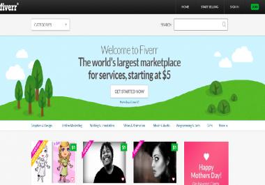 """I will create a f""""iverr Clone website"""