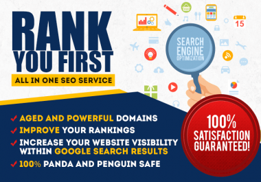I will rank you First in Google with All in One seo backlinks for website and youtube
