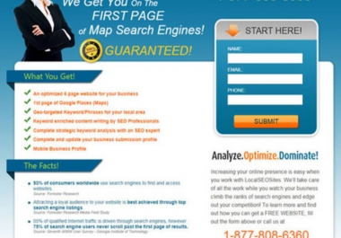 design gorgeous landing page for your business