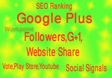 provide 125 Google Plus To Your Website URL